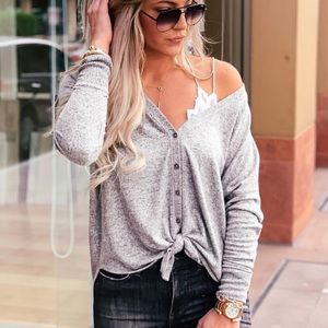 Cozy Button Up Top